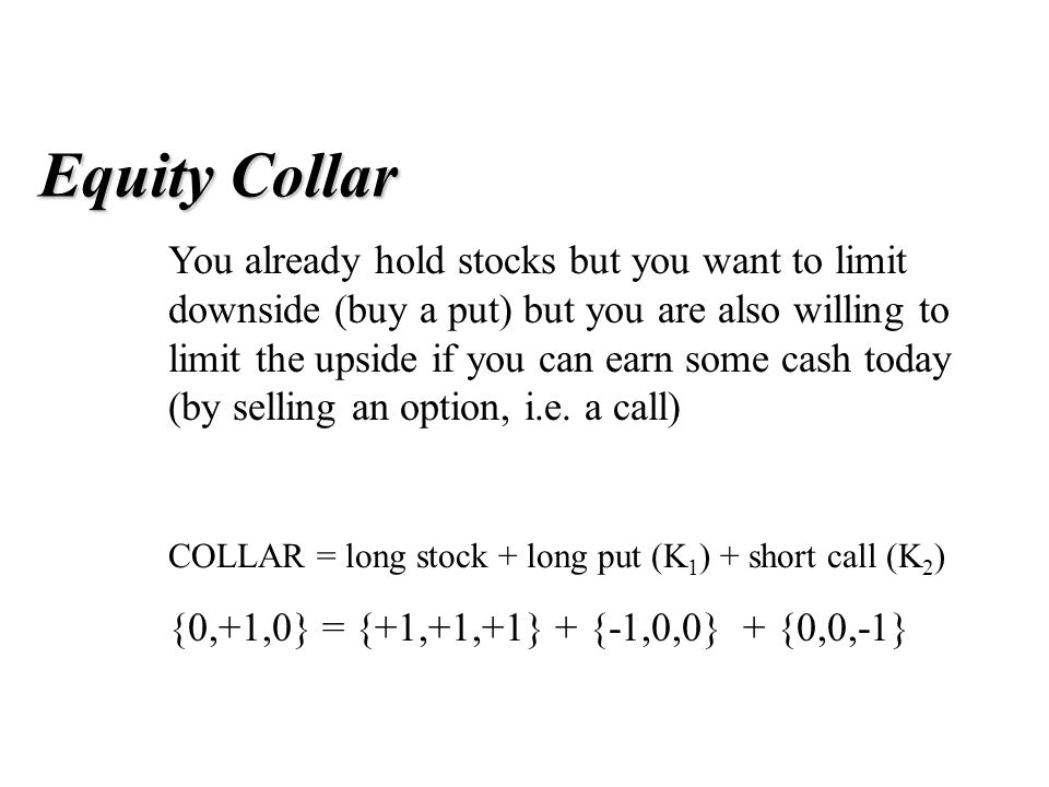 You already hold stocks but you want to limit downside (buy a put) but you are also willing to limit the upside if you can earn some cash today (by selling an option, i.e.