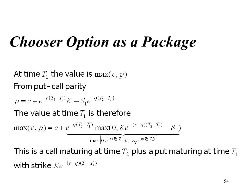 Chooser Option as a Package 54