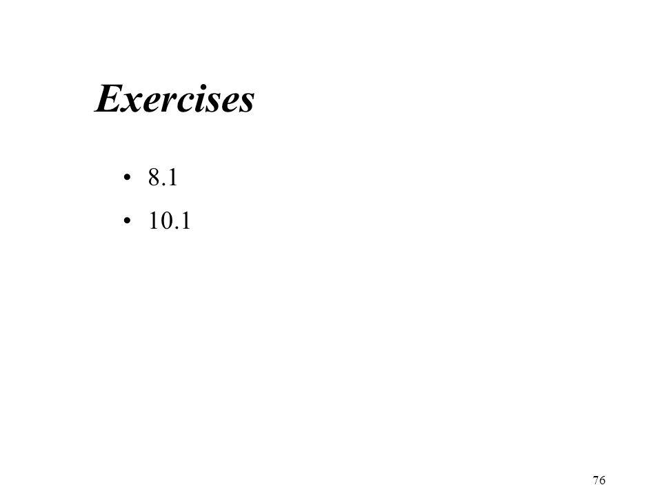 Exercises 8.1 10.1 76