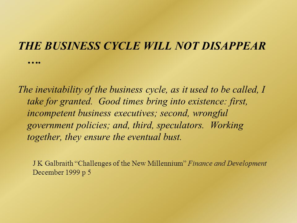 WHY DO BUSINESS FLUCTUATIONS MATTER. Growth is generally higher when stability is greater.