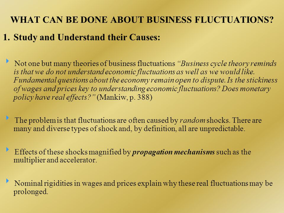 WHAT CAN BE DONE ABOUT BUSINESS FLUCTUATIONS.