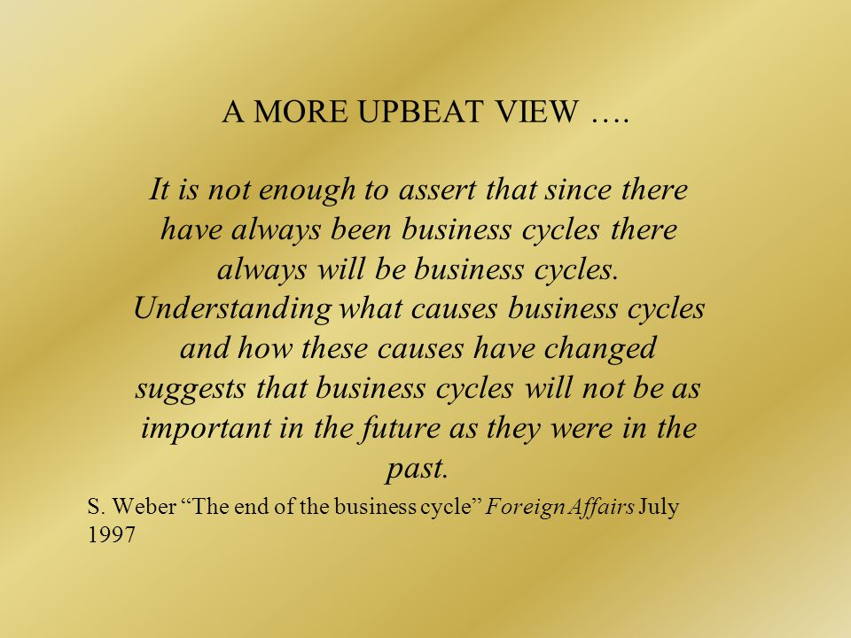 WHY SHOULD BUSINESS FLUCTUATIONS BE DISLIKED.