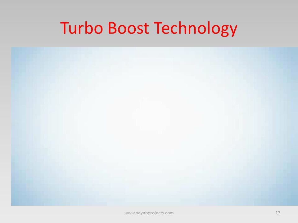 Turbo Boost Technology 17www.nayabprojects.com
