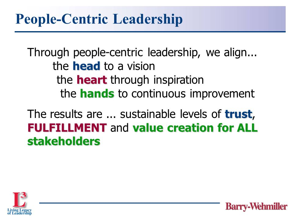 People-Centric Leadership Through people-centric leadership, we align...
