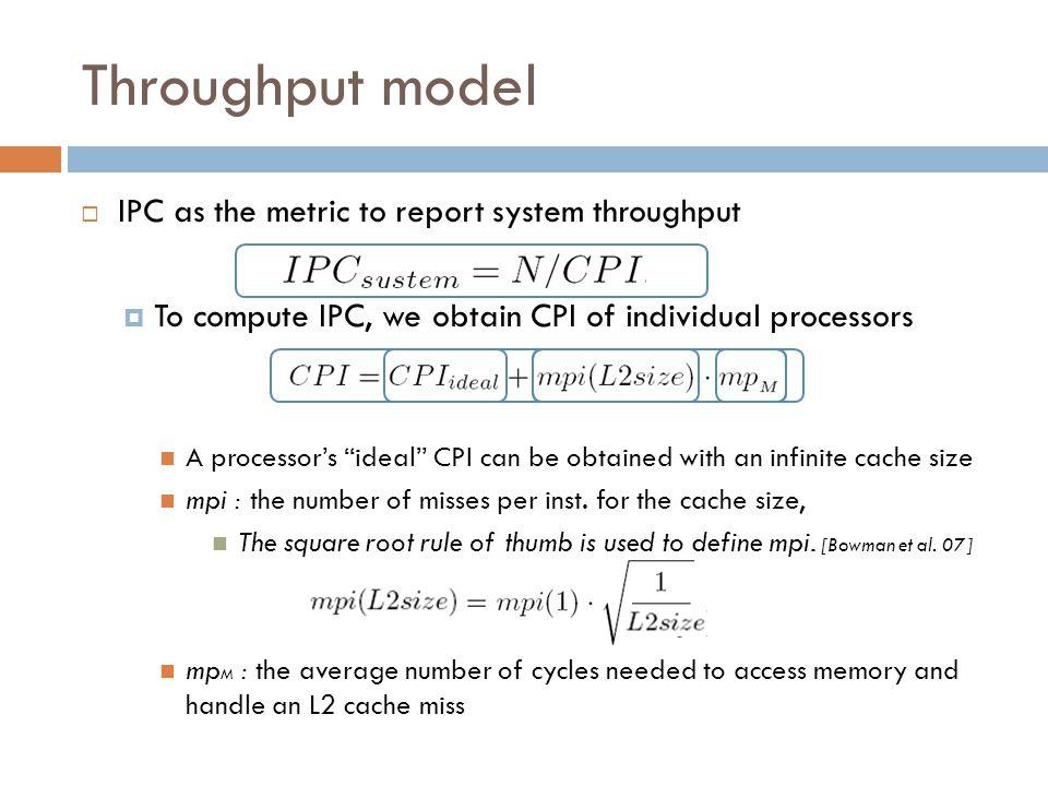 Modeling L2 cache Core 0 L1 L2 Core 0 L1 L2 Core 0 L1 L2 Core 0 L1