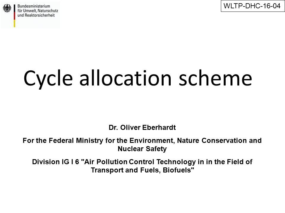 Cycle allocation scheme Dr.