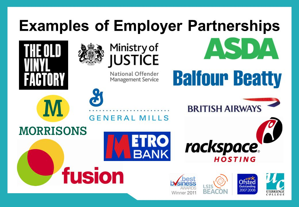 Examples of Employer Partnerships