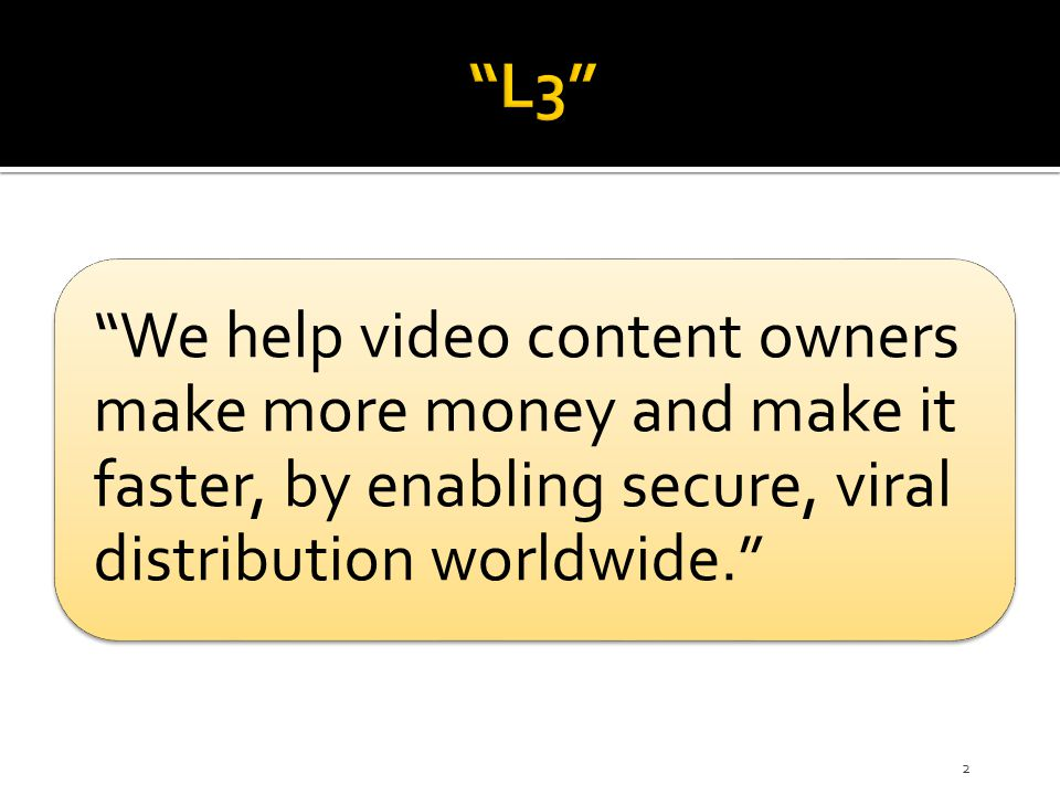  Content owners or anyone else can add value to the L3 content  Example: Subtitles in any language can be added to the L3 file ▪ Expands the market exponentially ▪ Incremental revenue for such value added service is tracked separately and goes back to the entity that built the value-added feature 23 And we will have a little house with big windows + = Opportunity