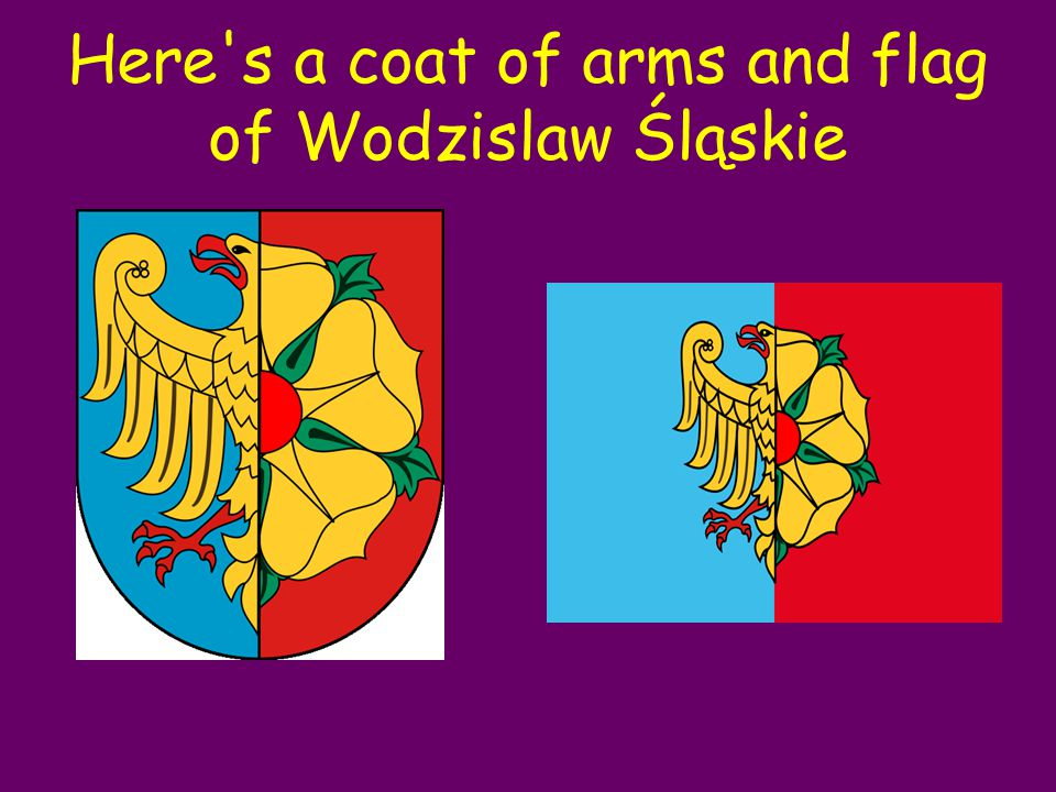 Here s a coat of arms and flag of Wodzislaw Śląskie