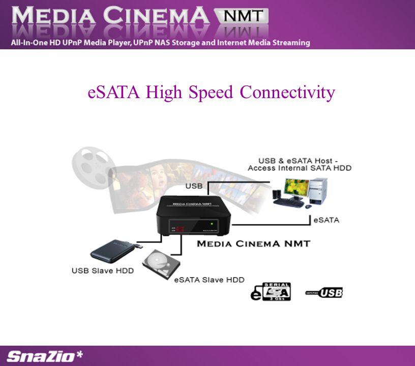 eSATA High Speed Connectivity