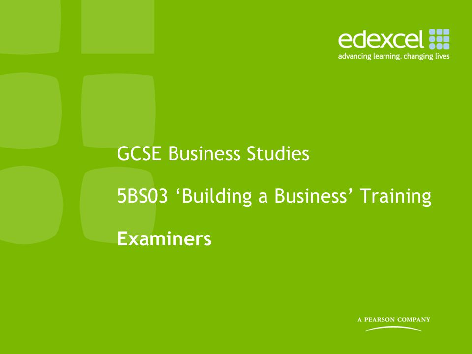 Support from Edexcel GQ Assessment (GQA) –Also known as the Business, Commerce and Retail team (contact details at the end) –Responsible for supporting and delivering the marking and ensuring that it is all completed in time for the grade boundaries to be determined (awarded) The team will contact you before marking starts: 1.Before the examination –to provide you with the key dates and deadlines, FAQs and information about how to access the documentation you require for marking.