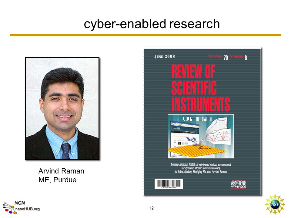12 cyber-enabled research Arvind Raman ME, Purdue