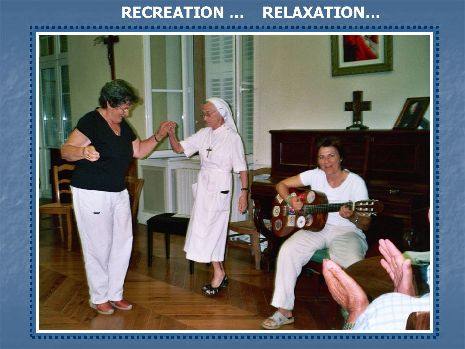 To live for Love and in Love Community Recreation time Community Recreation time