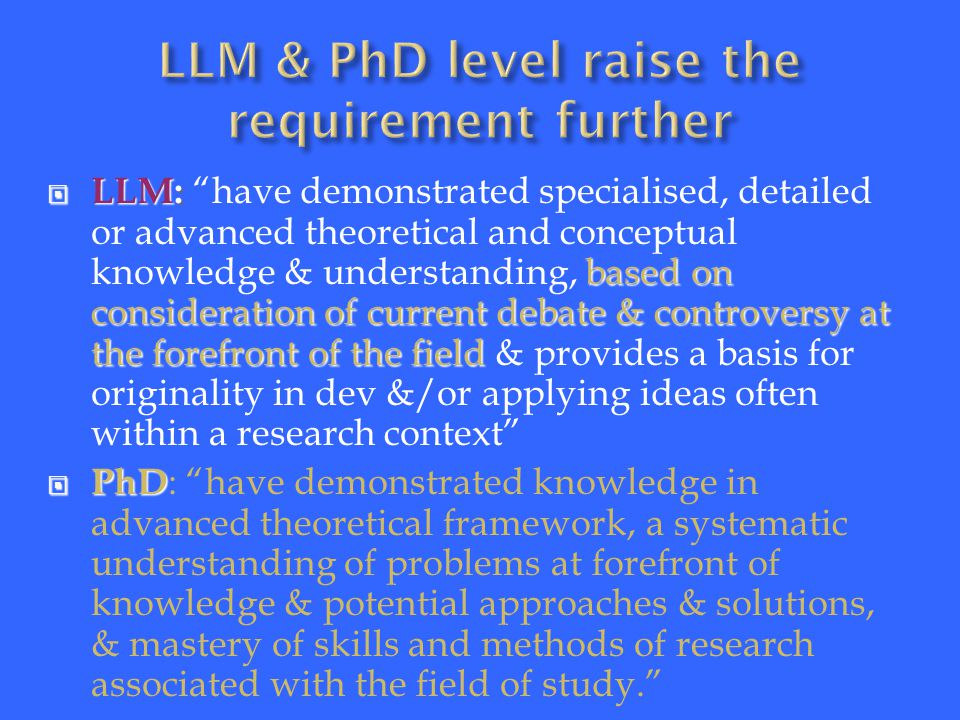  F rom  F rom Graduate AttributesTo Level Descriptors ( H/O )To Individuals Modules (Constructive Alignment H/O) Alignment H/O)