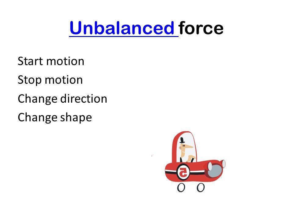 BalancedBalanced force No change No visible effect