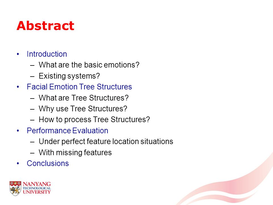 Abstract Introduction –What are the basic emotions.