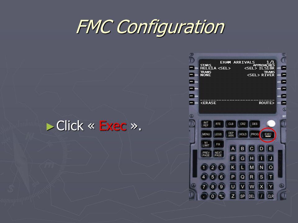 FMC Configuration ► Click « Exec ».