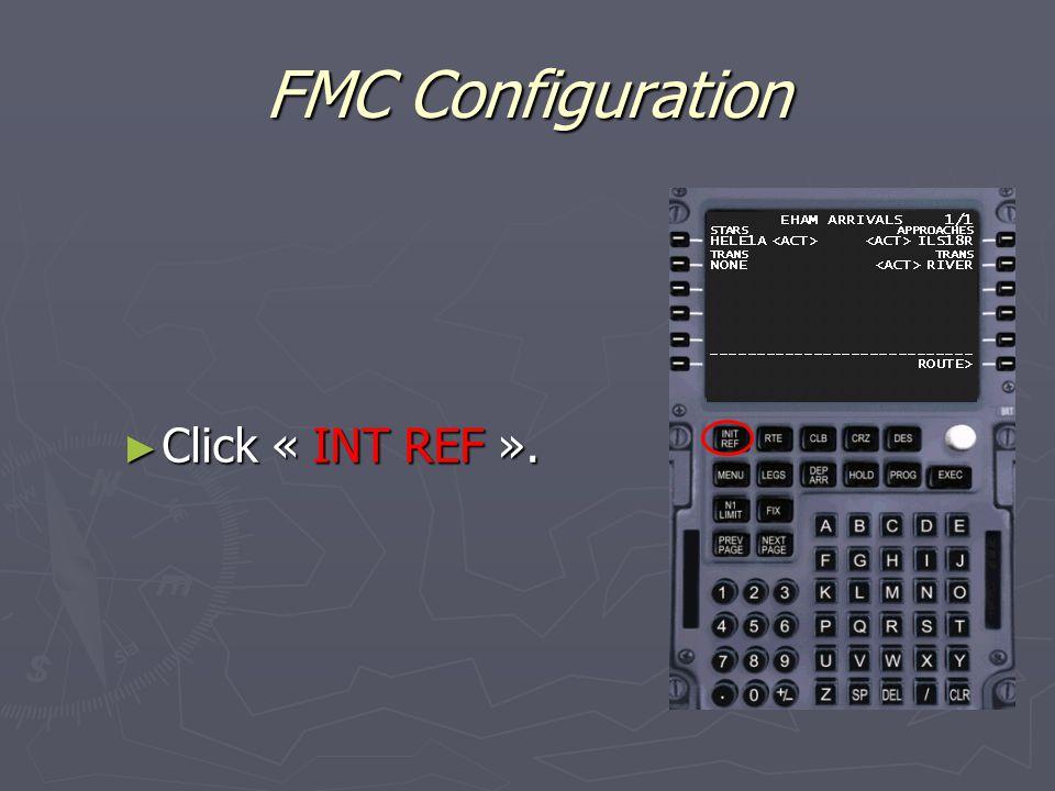 FMC Configuration ► Click « INT REF ».