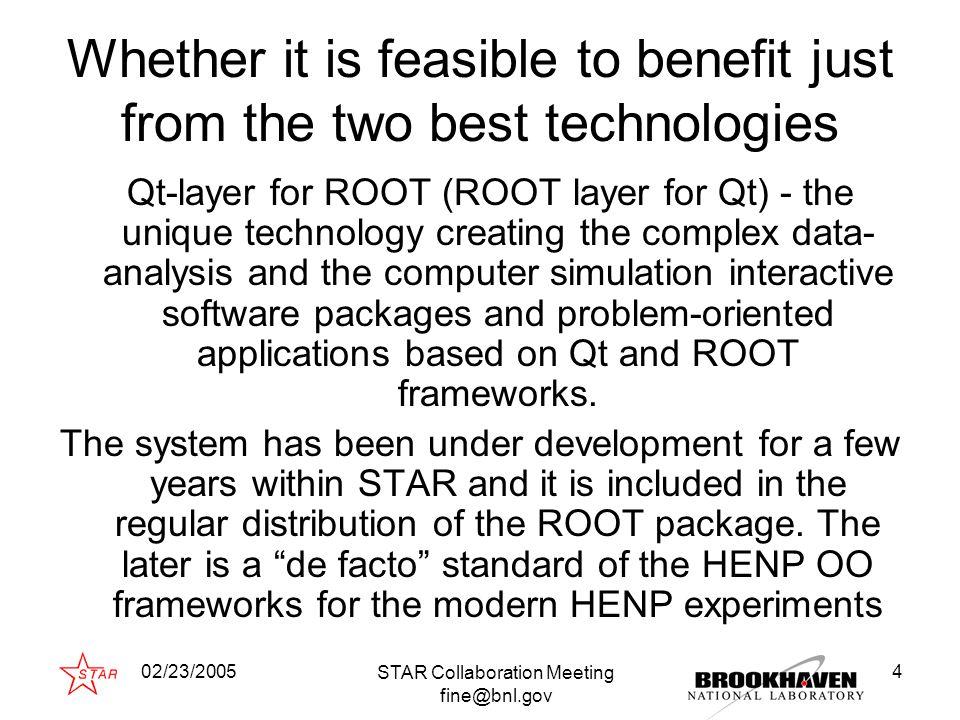 02/23/2005 STAR Collaboration Meeting fine@bnl.gov 15 Simple histogram browser (60 lines of C++ code)