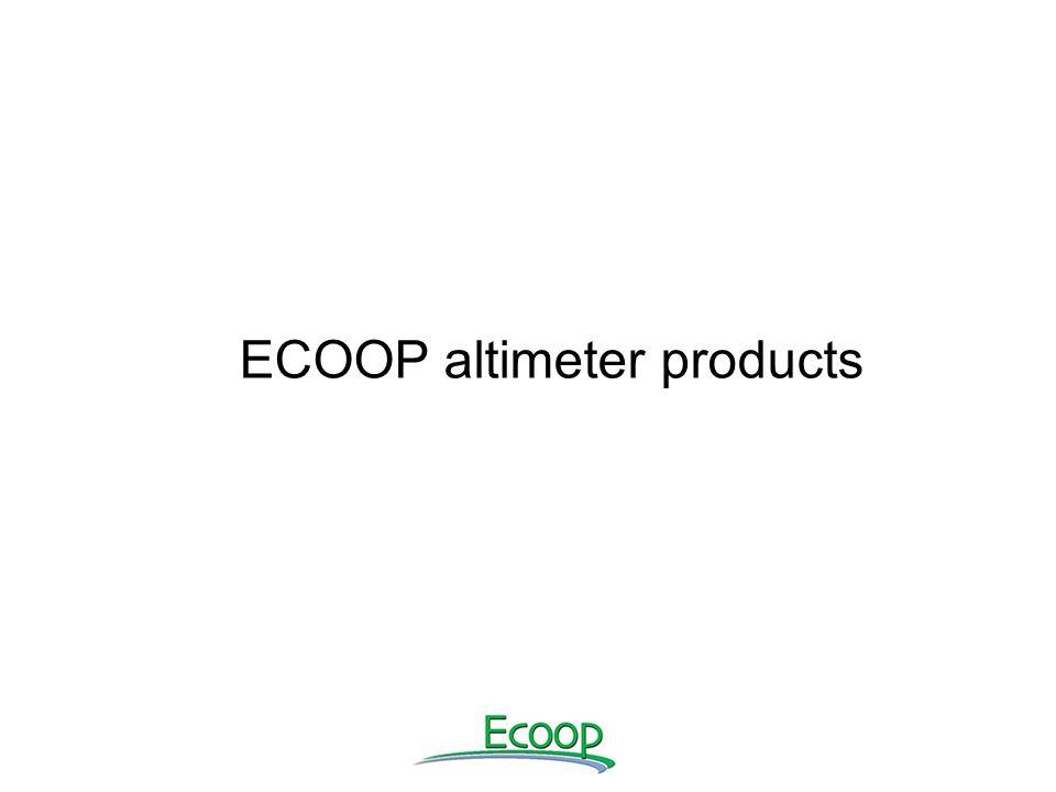 ECOOP altimeter products