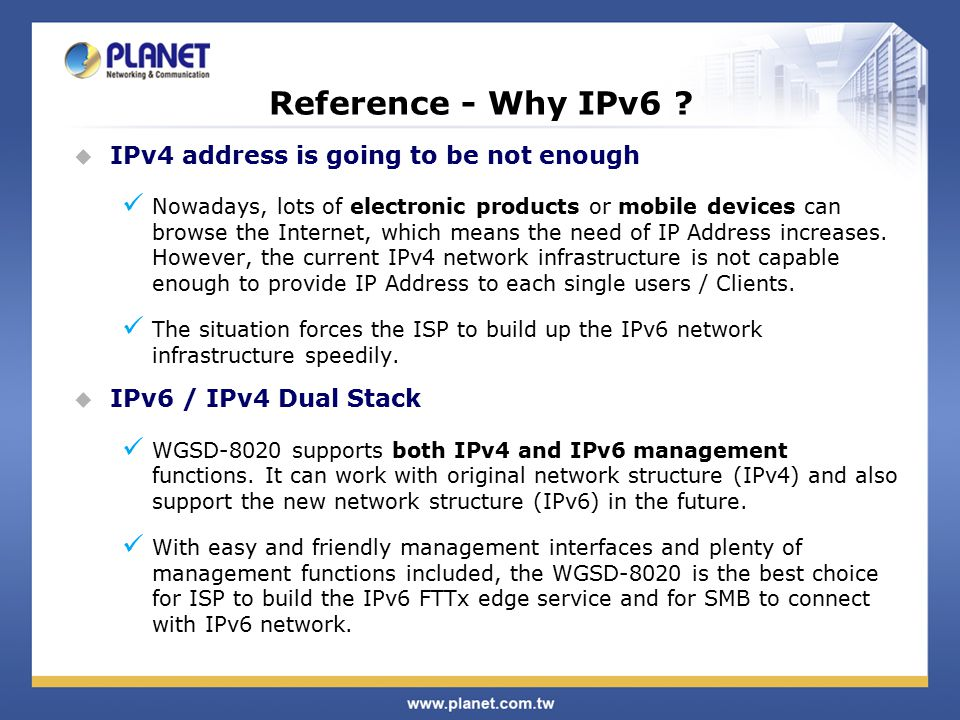 Reference - Why IPv6 .