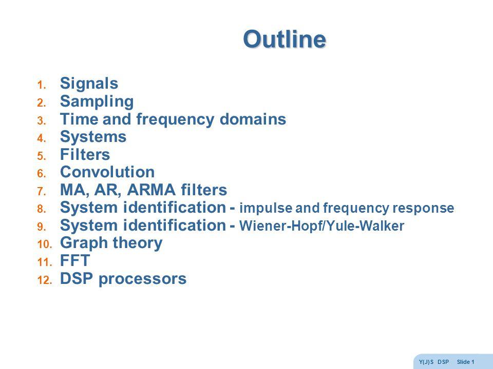Y(J)S DSP Slide 1 Outline 1. Signals 2. Sampling 3.