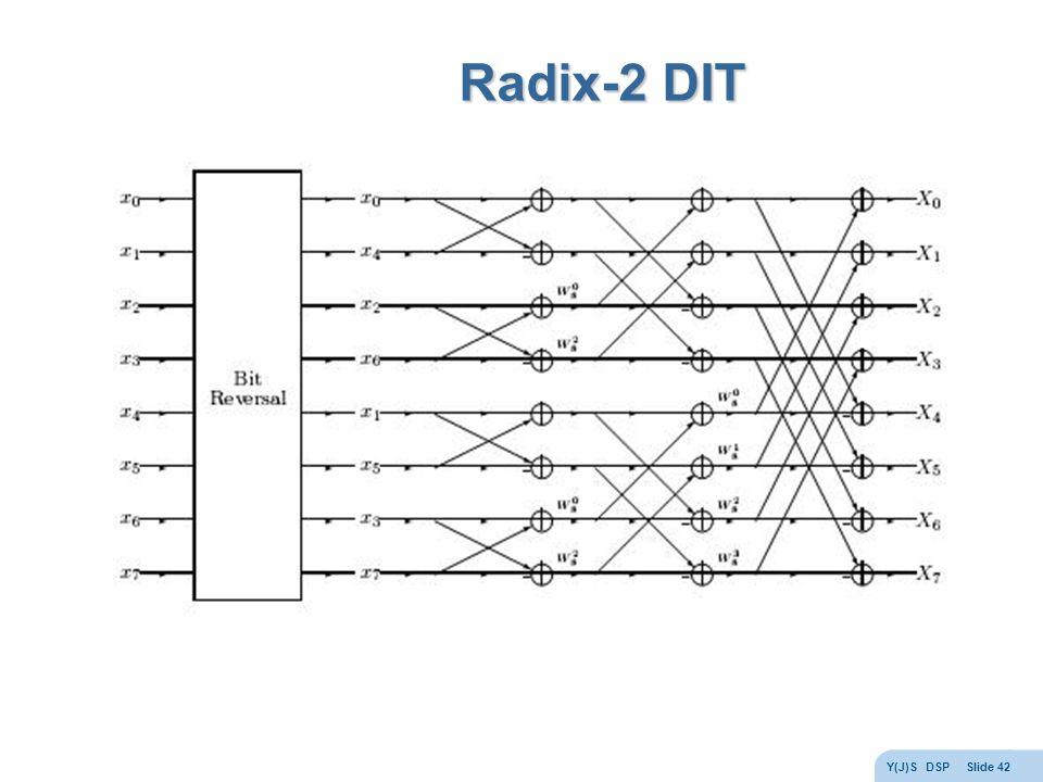 Y(J)S DSP Slide 42 Radix-2 DIT