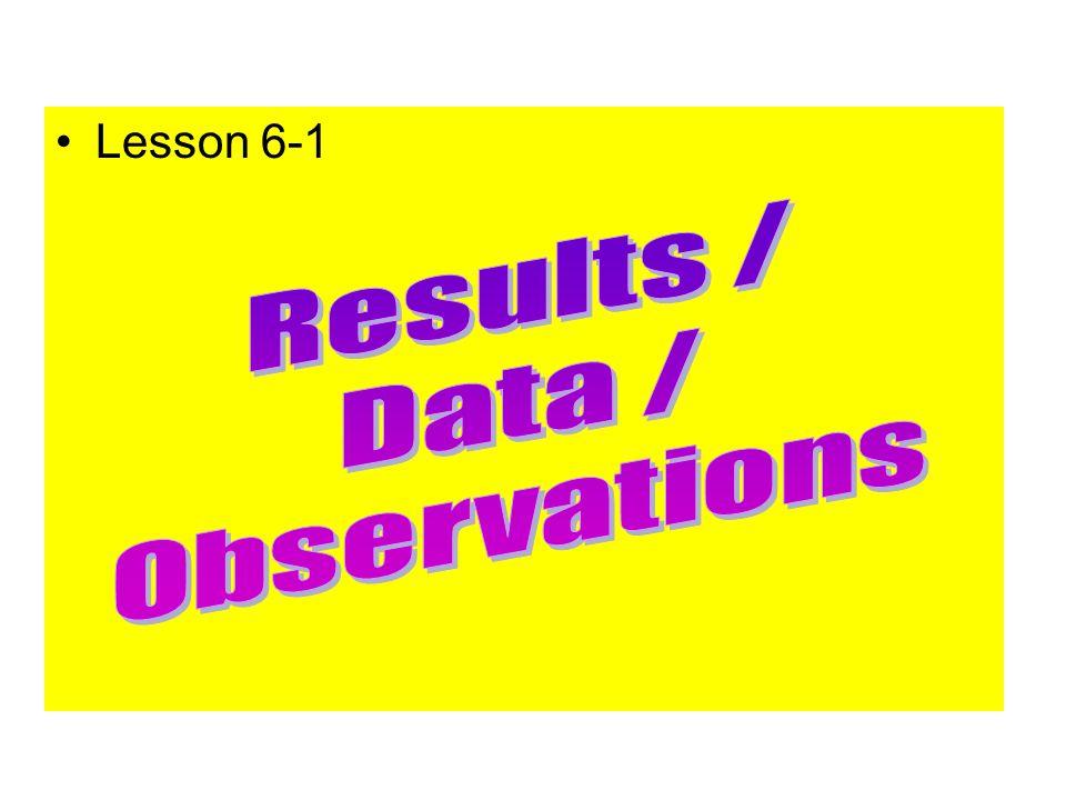 Lesson 6-1