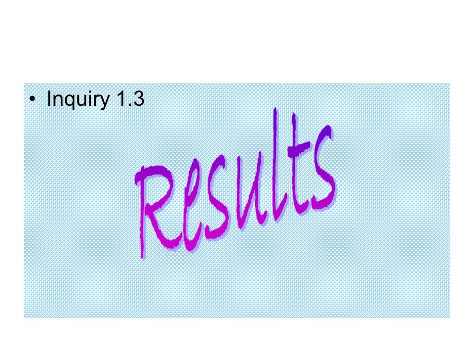 Inquiry 1.3