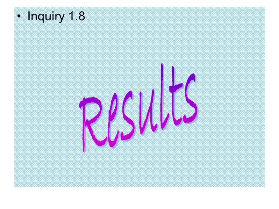 Inquiry 1.8