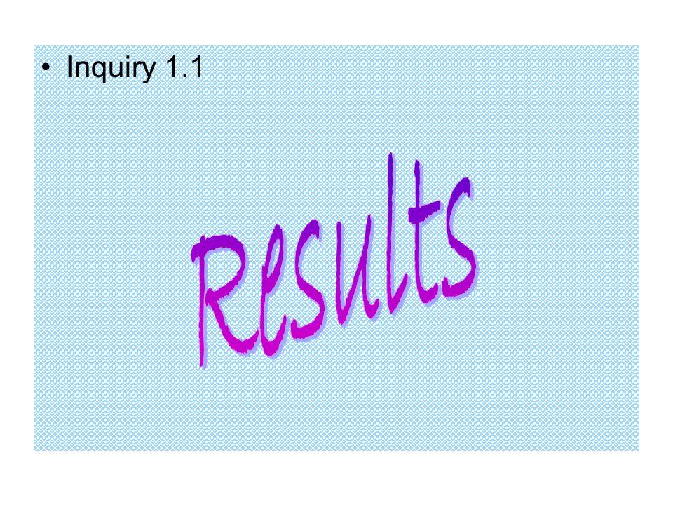 Inquiry 1.1