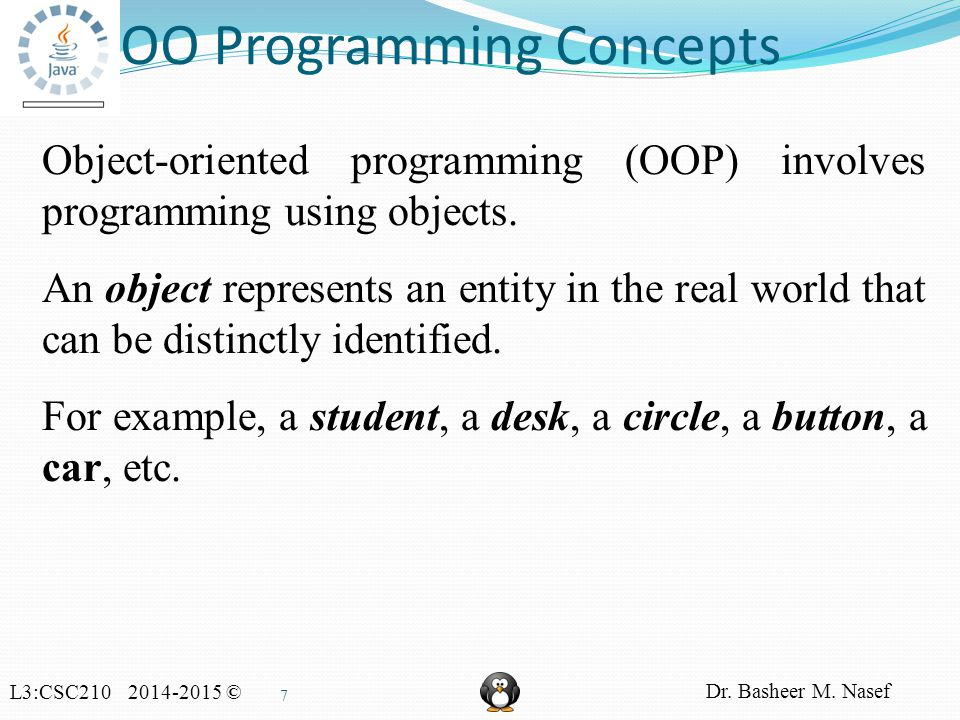 L3:CSC210 2014-2015 © Dr. Basheer M. Nasef 68 Passing Objects to Methods, cont.