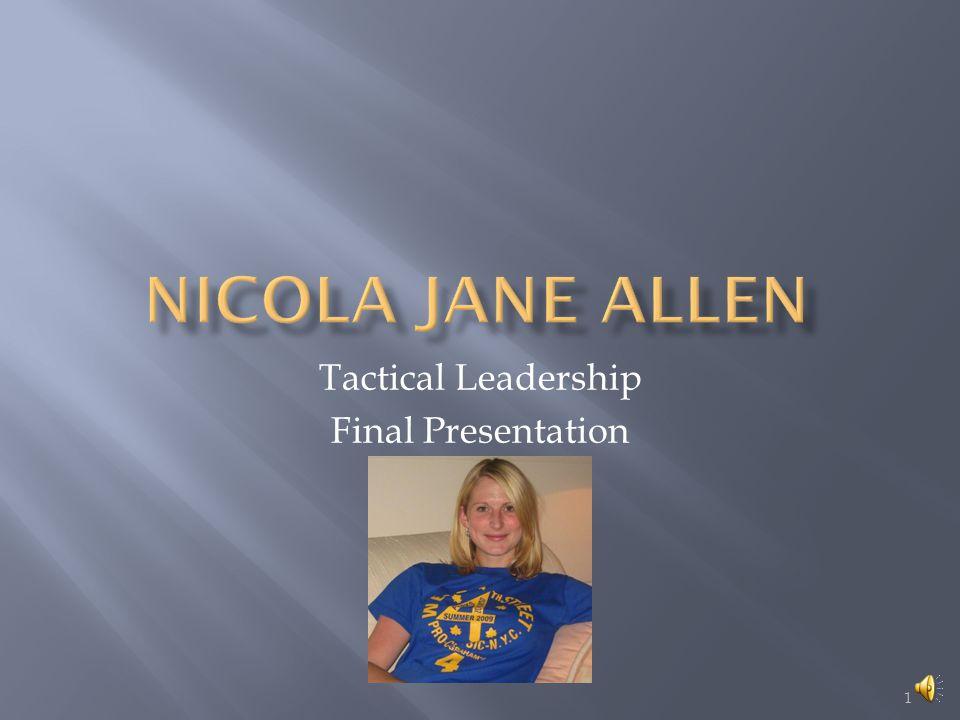 1 Tactical Leadership Final Presentation