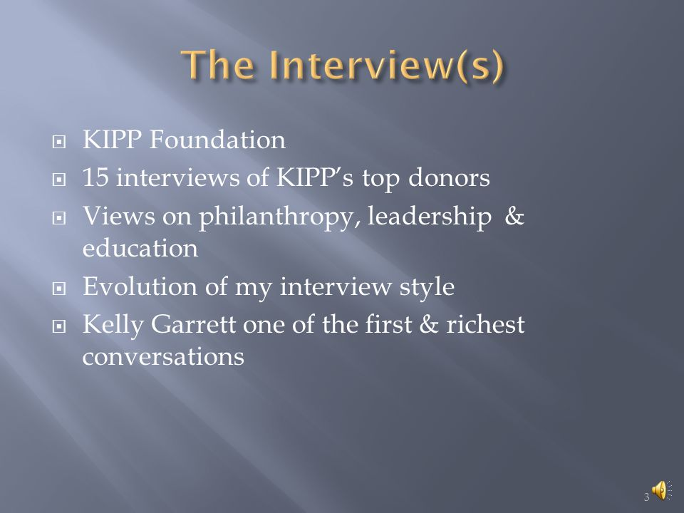 INTERVIEW ANALYSIS PERSONAL DEVELOPMENT PLAN  Kelly Garrett VABEs  7 Responses Style Analysis  How to influence L3  Personal Charter  Dreams  Conceptual Insights  Personal Course Takeaway's 2