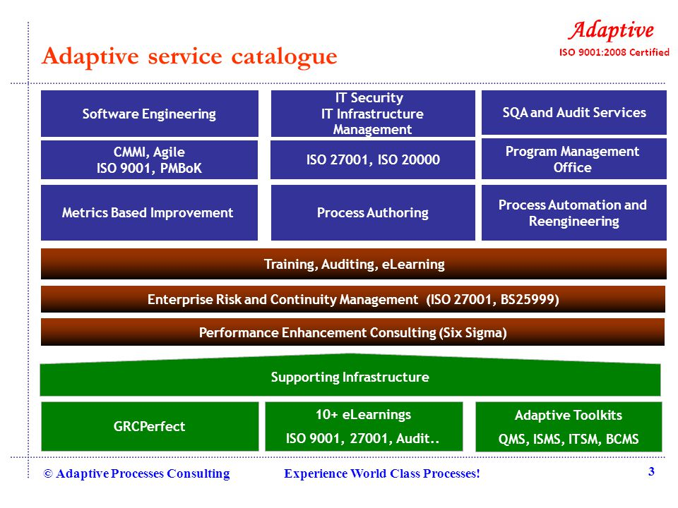 CMMI Dev L2 Compliance © Adaptive Processes Consulting Experience World Class Processes.