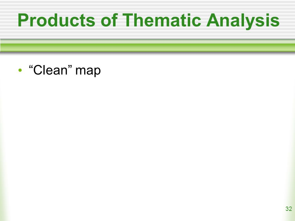 32 Products of Thematic Analysis Clean map