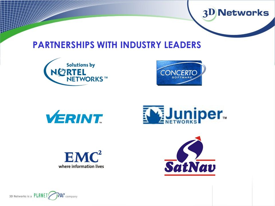 PARTNERSHIPS WITH INDUSTRY LEADERS
