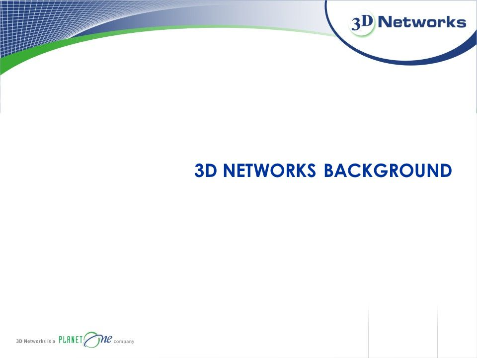 3D NETWORKS BACKGROUND
