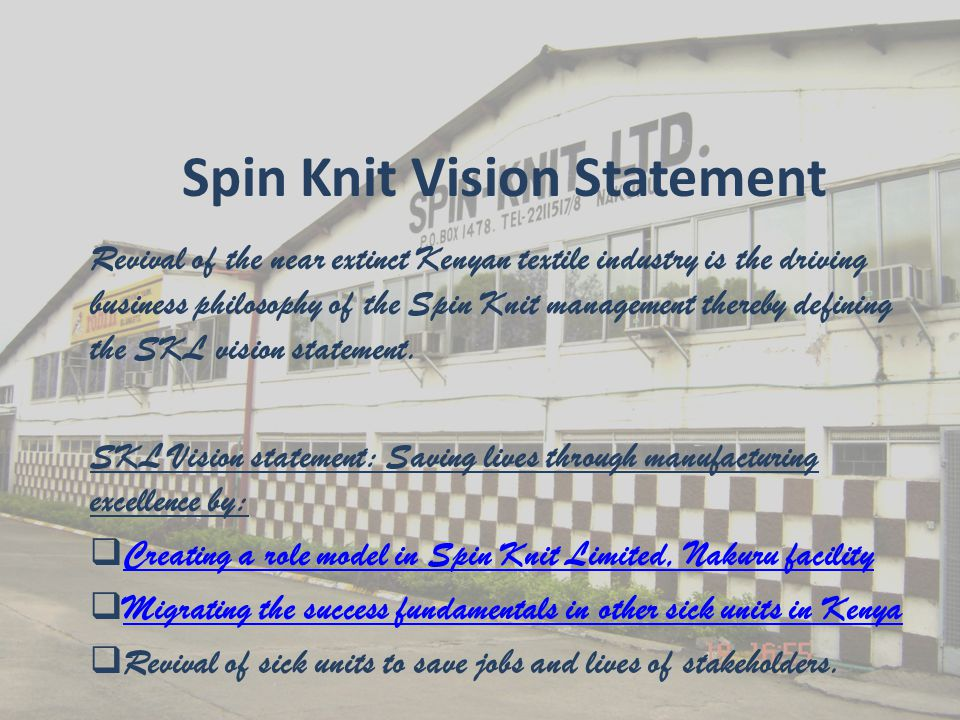 Elements of the vision  Posterity – creation of an institution that lasts a proverbial eternal time with a distinct signature.