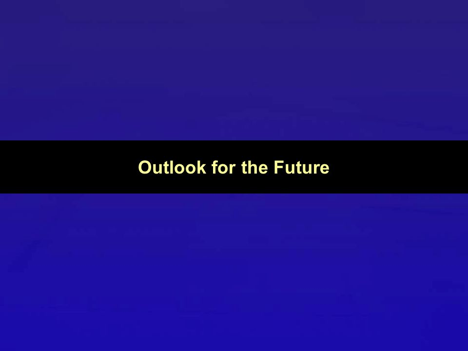 Outlook for the Future