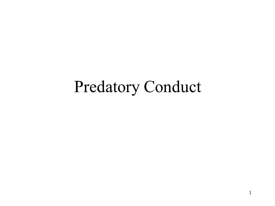 2 Predatory conduct is the implementation of a strategy designed specifically to deter rival firms from competing in a market.