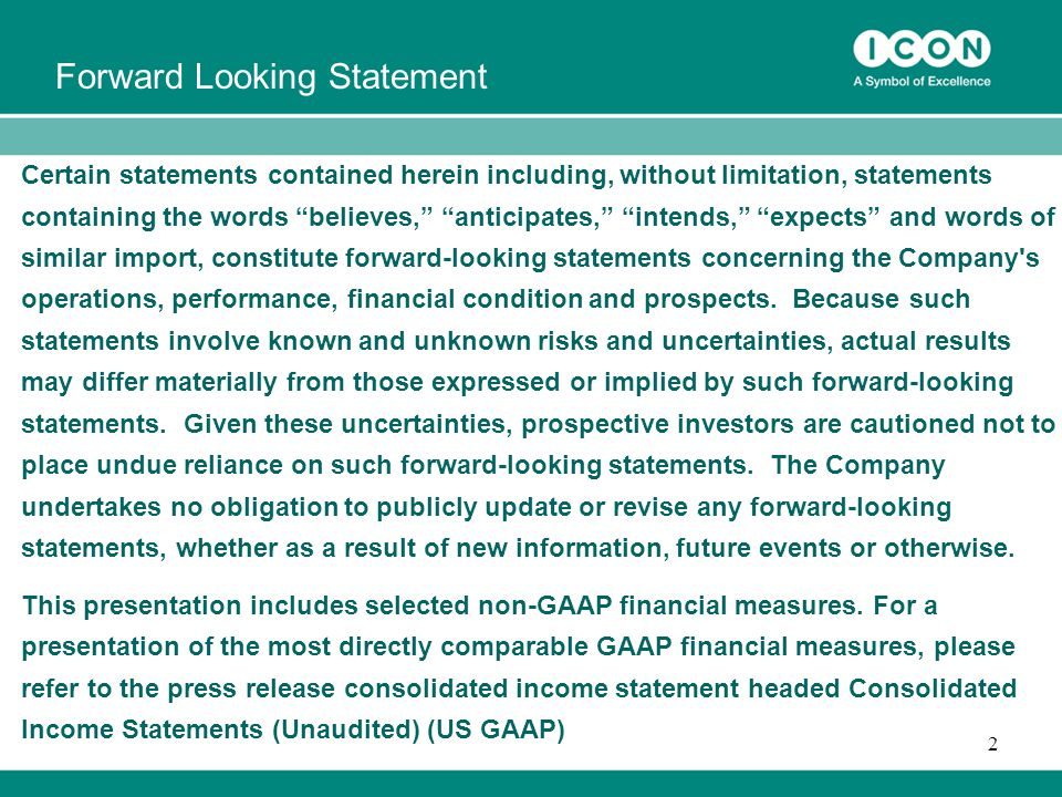 2 Certain statements contained herein including, without limitation, statements containing the words believes, anticipates, intends, expects and words of similar import, constitute forward-looking statements concerning the Company s operations, performance, financial condition and prospects.