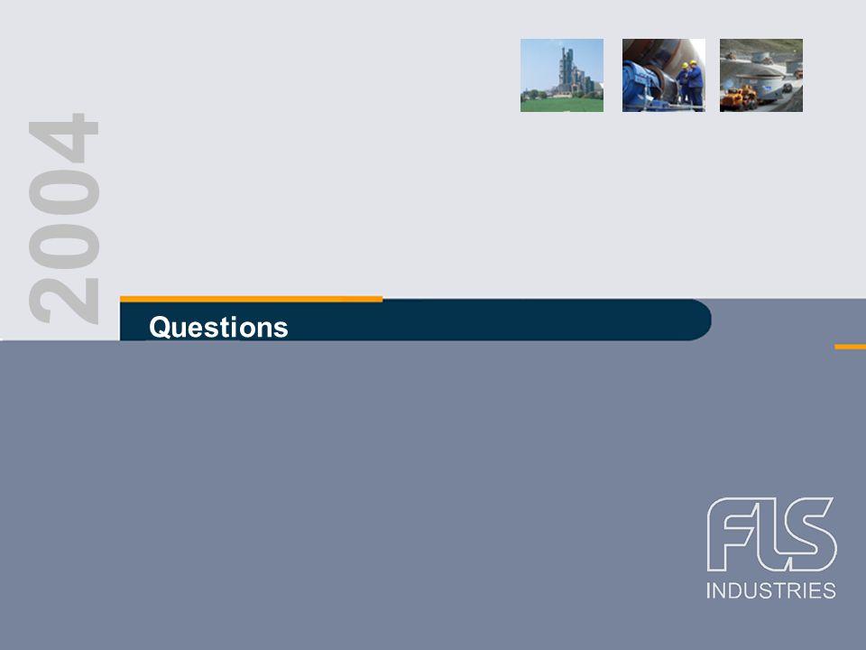 FLS Industries A/S Interim report Q2 2004 2004 Questions