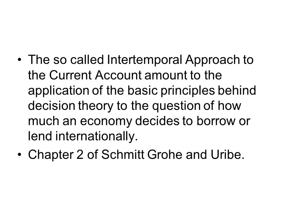 An Increase in the World Interest Rate Consider an interest rate increase from r to r' > r.