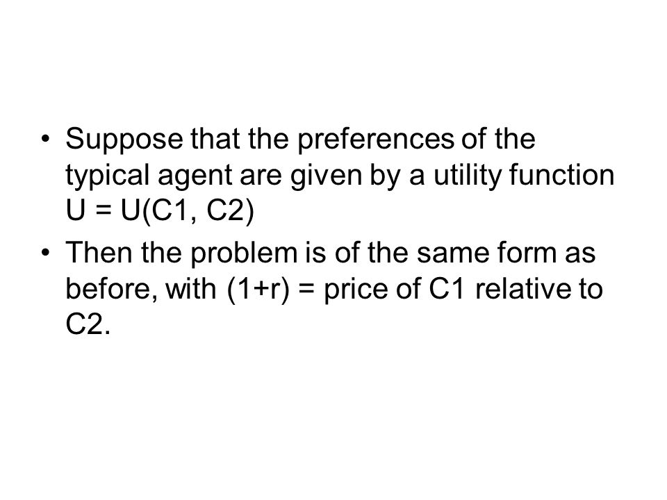 C1 C2 O C1 C2 B A Q1' Q2' CA Surplus in Period 1 A' If the Endowment Point is A' instead of A the economy runs a CA surplus