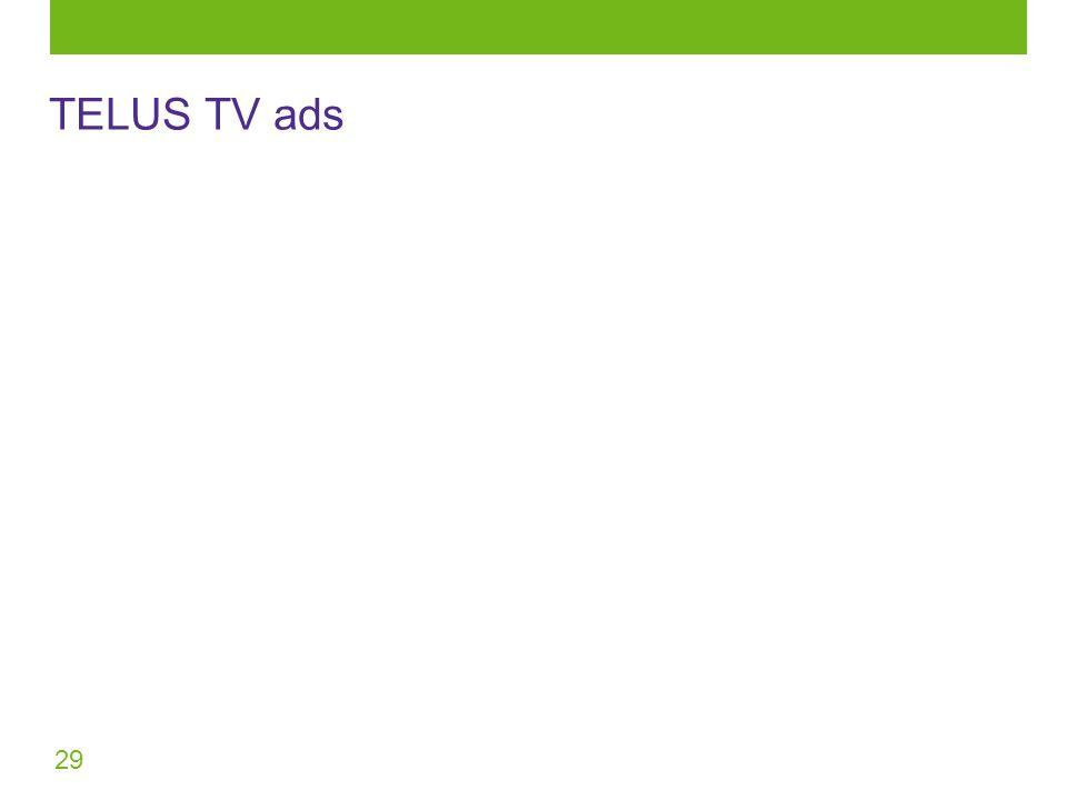 29 TELUS TV ads