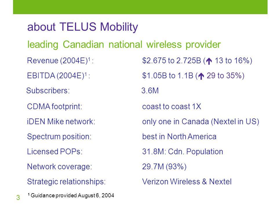 3 about TELUS Mobility 31.8M: Cdn.