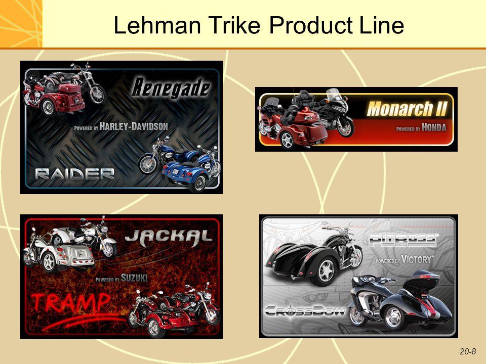 20-8 Lehman Trike Product Line