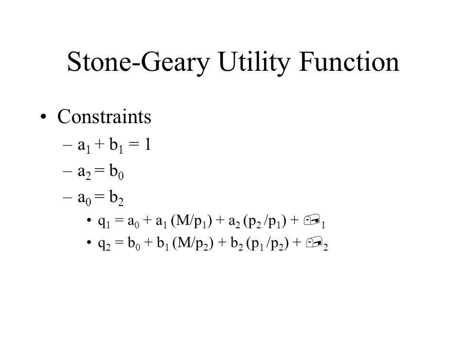 Constraints in Stata Constraint define # condition –example 1: constraint define 1 var1=var2 coefficient on var1 equals coefficient on var2 –example 2: constraint define 2 [q1]constant = [q2]var3 constant in q1 equation equals coefficient on var3 in q2 equation