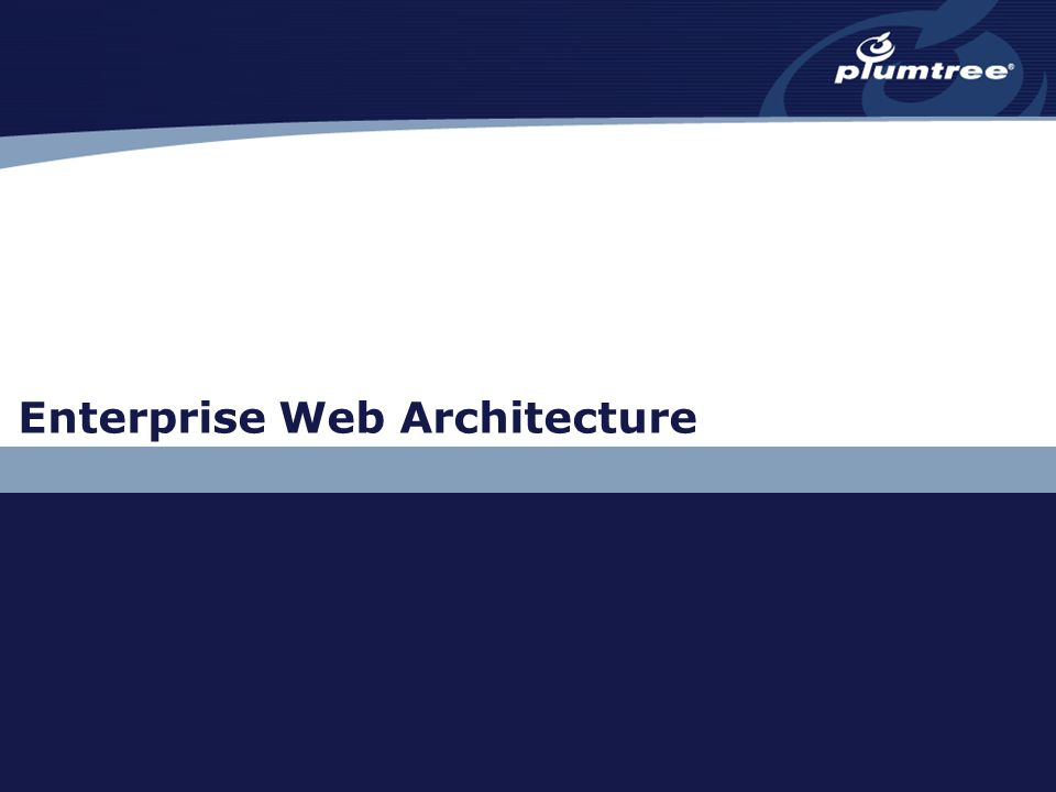 Enterprise Web Architecture